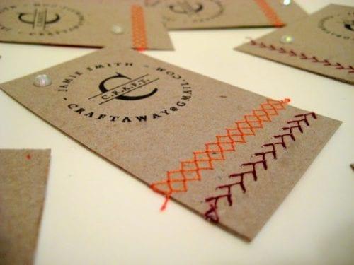 De belles idées de cartes de visites pour les couturières et les arts créatifs 12