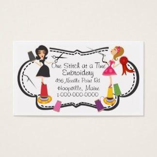 De belles idées de cartes de visites pour les couturières et les arts créatifs 26