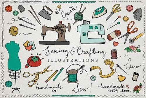 De belles idées de cartes de visites pour les couturières et les arts créatifs 35