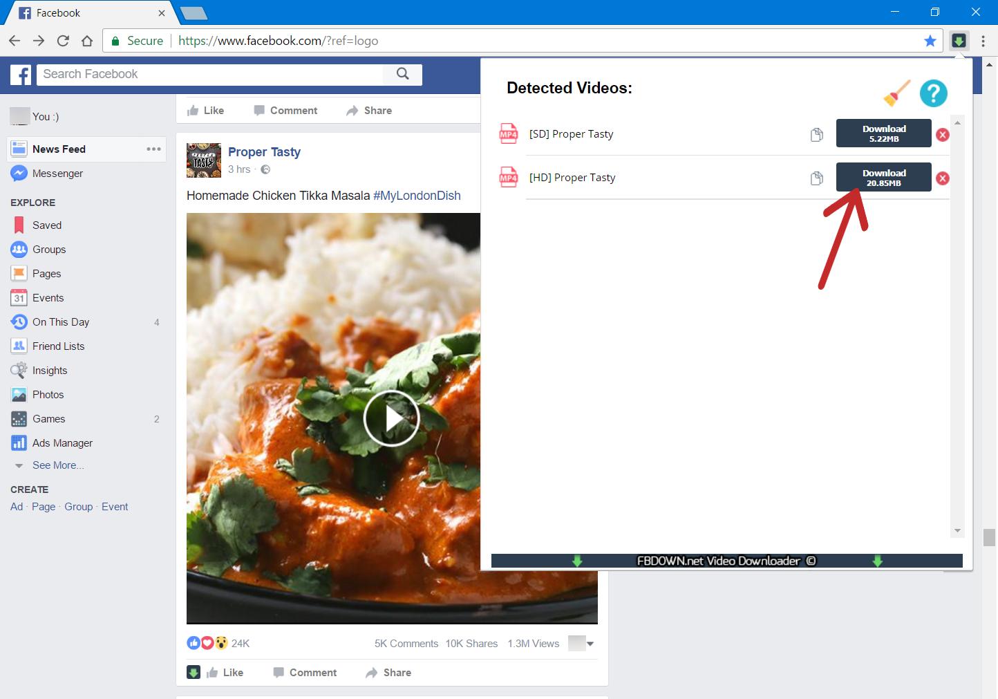 Comment télécharger une vidéo Facebook ? 5