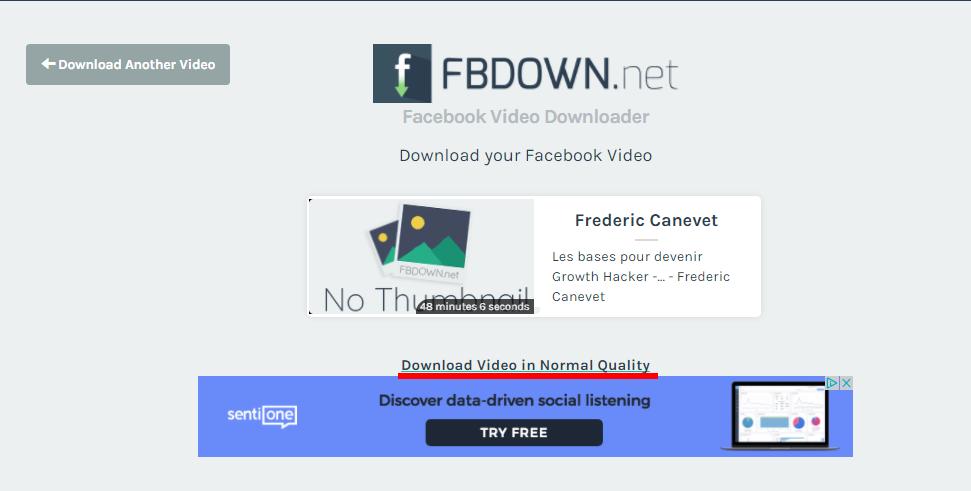 Comment télécharger une vidéo Facebook ? 2