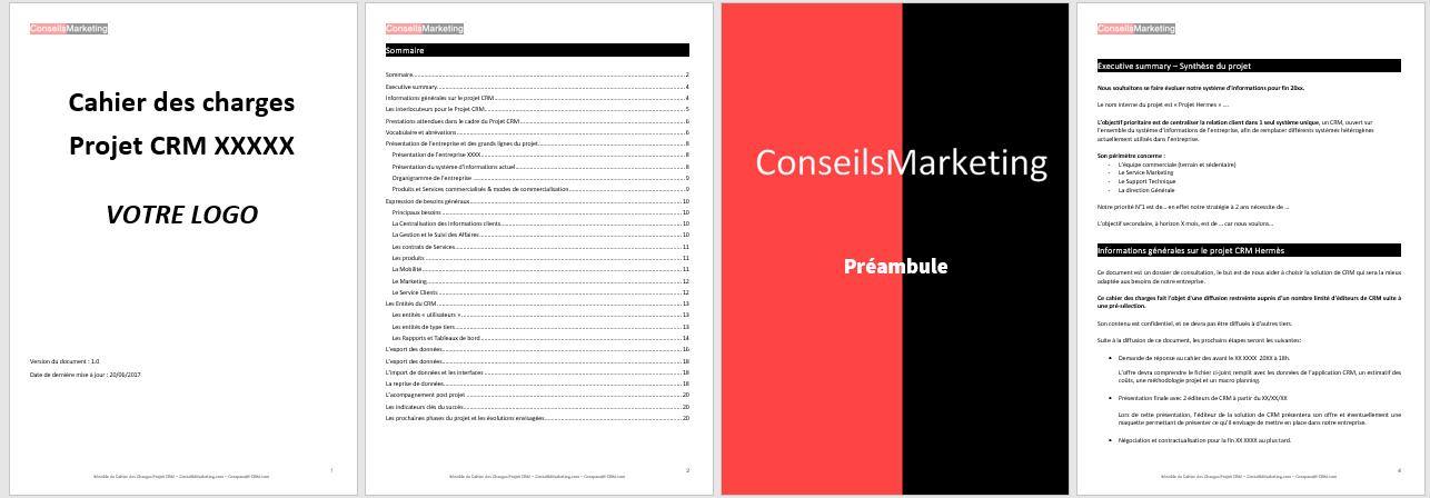 Modèle de Cahier des Charges pour un Projet CRM à télécharger 2