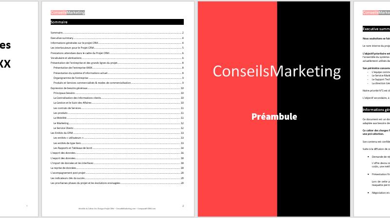 Modèle de Cahier des Charges pour un Projet CRM à télécharger 4