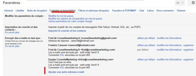 Comment envoyer et recevoir des emails depuis Gmail avec une autre adresse email ? 3