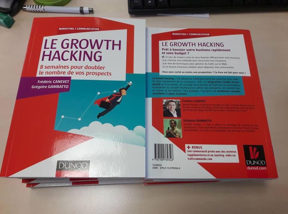 """Ca y est ! Mon livre """"Le Growth Hacking"""" est enfin disponible ! - Les coulisses de la publication d'un livre ! 2"""