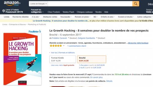 """Ca y est ! Mon livre """"Le Growth Hacking"""" est enfin disponible ! - Les coulisses de la publication d'un livre ! 7"""