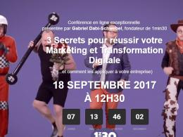 Web Séminaire : 3 Secrets pour réussir votre Marketing et Transformation Digitale ! 24