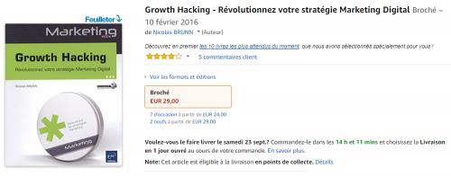 """Ca y est ! Mon livre """"Le Growth Hacking"""" est enfin disponible ! - Les coulisses de la publication d'un livre ! 15"""