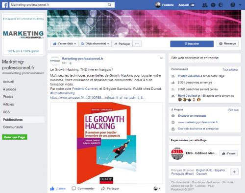 """Mon livre """"Le Growth Hacking"""" dans le Top 5 des livres Marketing en France ! 6"""