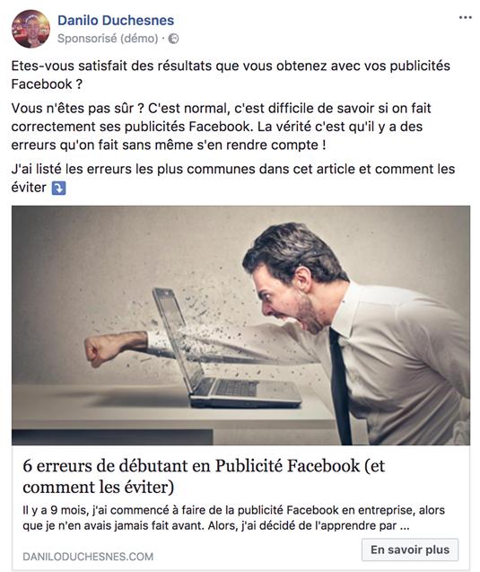 5 étapes pour lancer une publicité Facebook qui convertit. 37