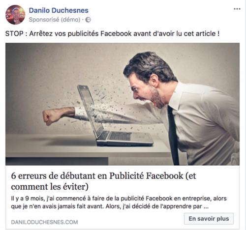5 étapes pour lancer une publicité Facebook qui convertit. 42