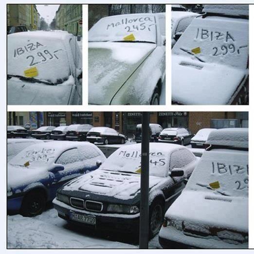 Bon courage aux Parisiens : les 80 publicités les plus créatives sur la Neige #neigeparis 84