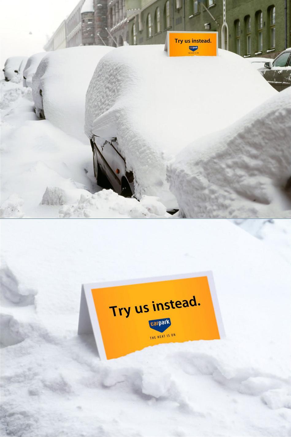 Bon courage aux Parisiens : les 80 publicités les plus créatives sur la Neige #neigeparis 21