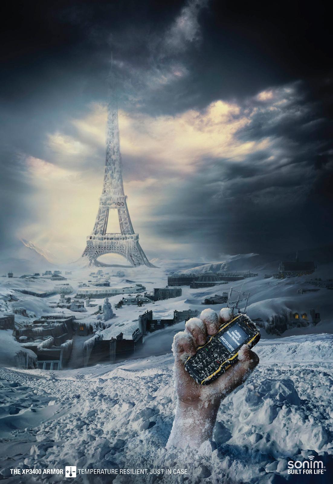 Bon courage aux Parisiens : les 80 publicités les plus créatives sur la Neige #neigeparis 32
