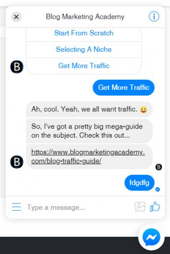 Les erreurs à ne surtout pas faire avec un Chatbot sur Facebook Messenger ! 7