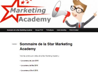 Les vidéos de Juin pour ma formation continue au WebMarketing : la Star Marketing Acacemy 40