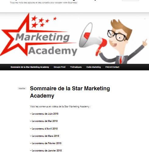 Les vidéos de Juin pour ma formation continue au WebMarketing : la Star Marketing Acacemy 3