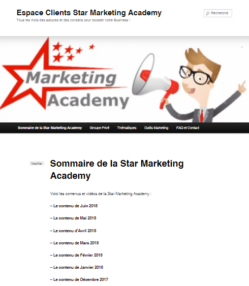 Les vidéos de Juin pour ma formation continue au WebMarketing : la Star Marketing Acacemy 1
