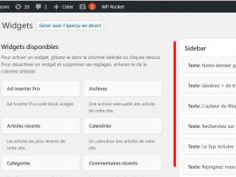 Comment ajouter un Widget dans Wordpress ? 63