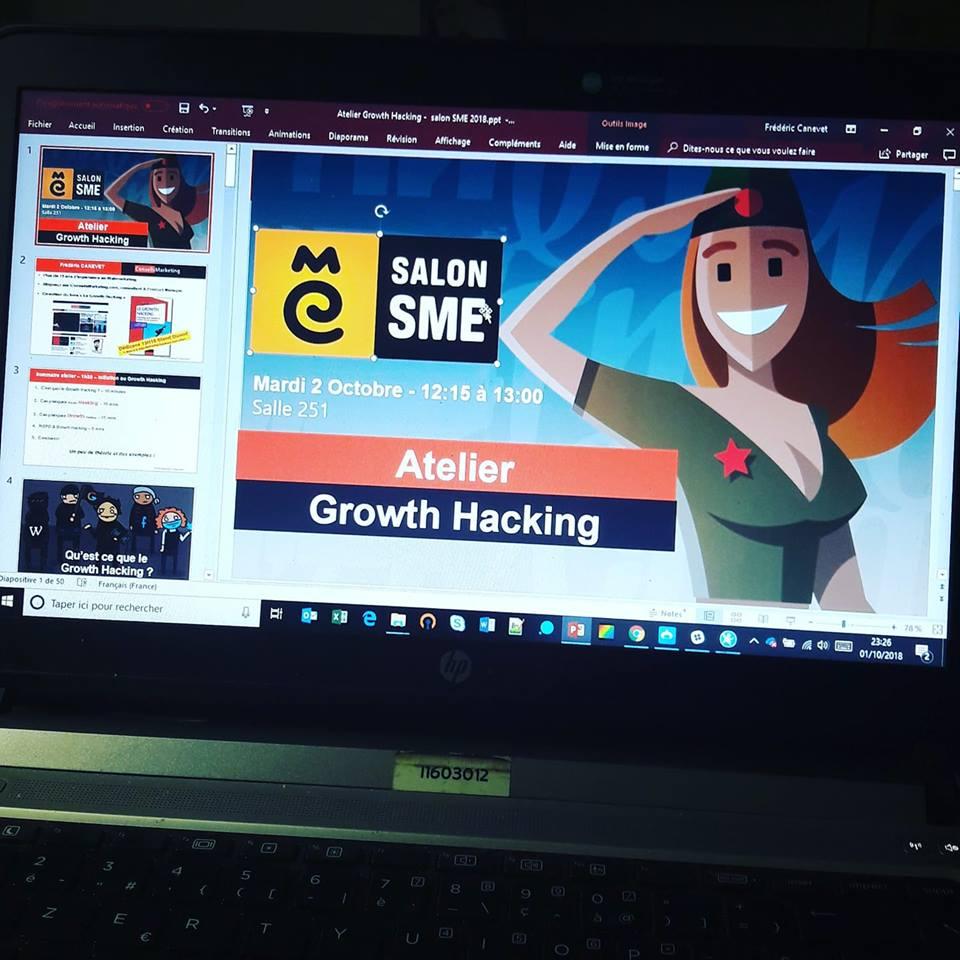 Découvrez ma mini formation au Growth Hacking dispensée lors du Salon SME 1