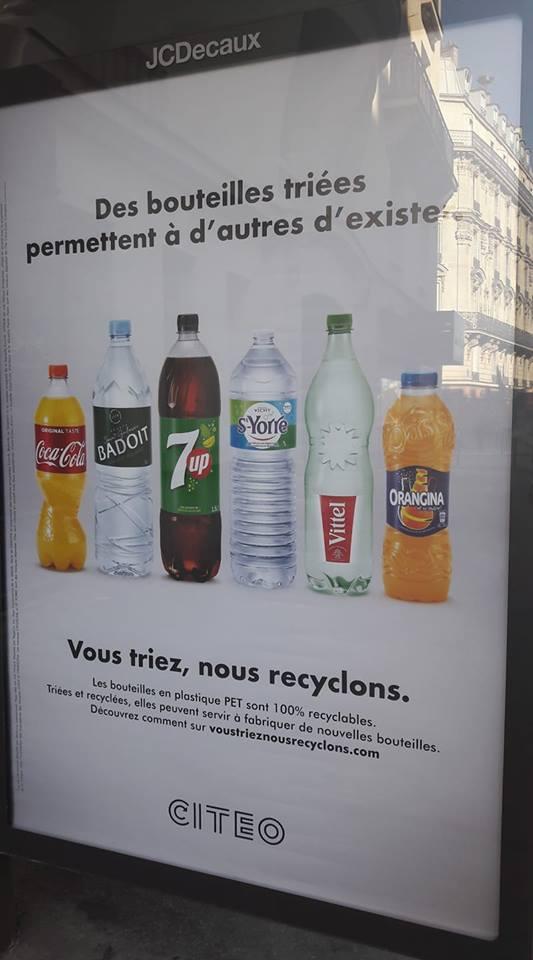 Une publicité créative sur le recyclage... dommage que le message soit biaisé... 1