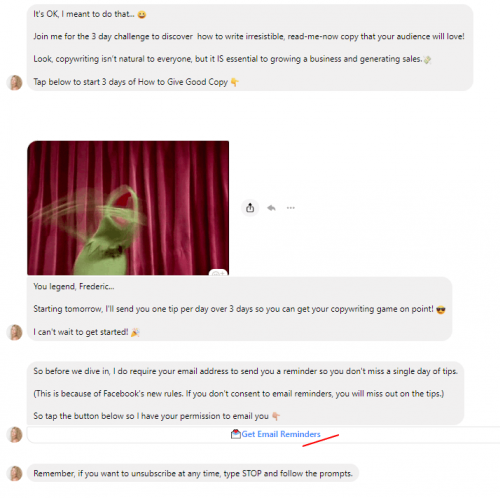 Les erreurs à ne surtout pas faire avec un Chatbot sur Facebook Messenger ! 25
