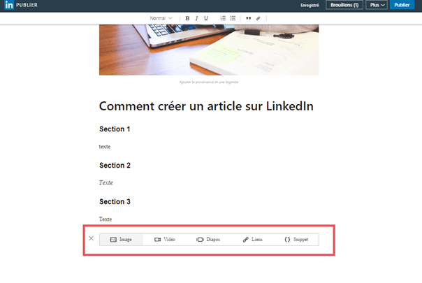 Comment publier un article sur Linkedin Articles ? 12