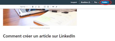 Comment publier un article sur Linkedin Articles ? 19
