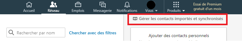 exporter ses contacts linkedin 2