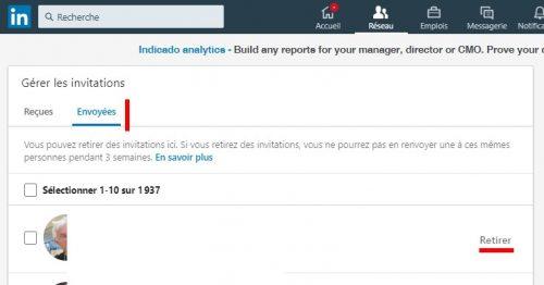 Comment supprimer des contacts LinkedIn, les bloquer ou annuler une invitation Linkedin ? 3