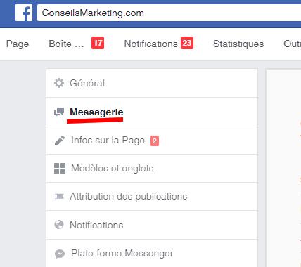 Comment créer un message automatique sur une page Facebook ? 3