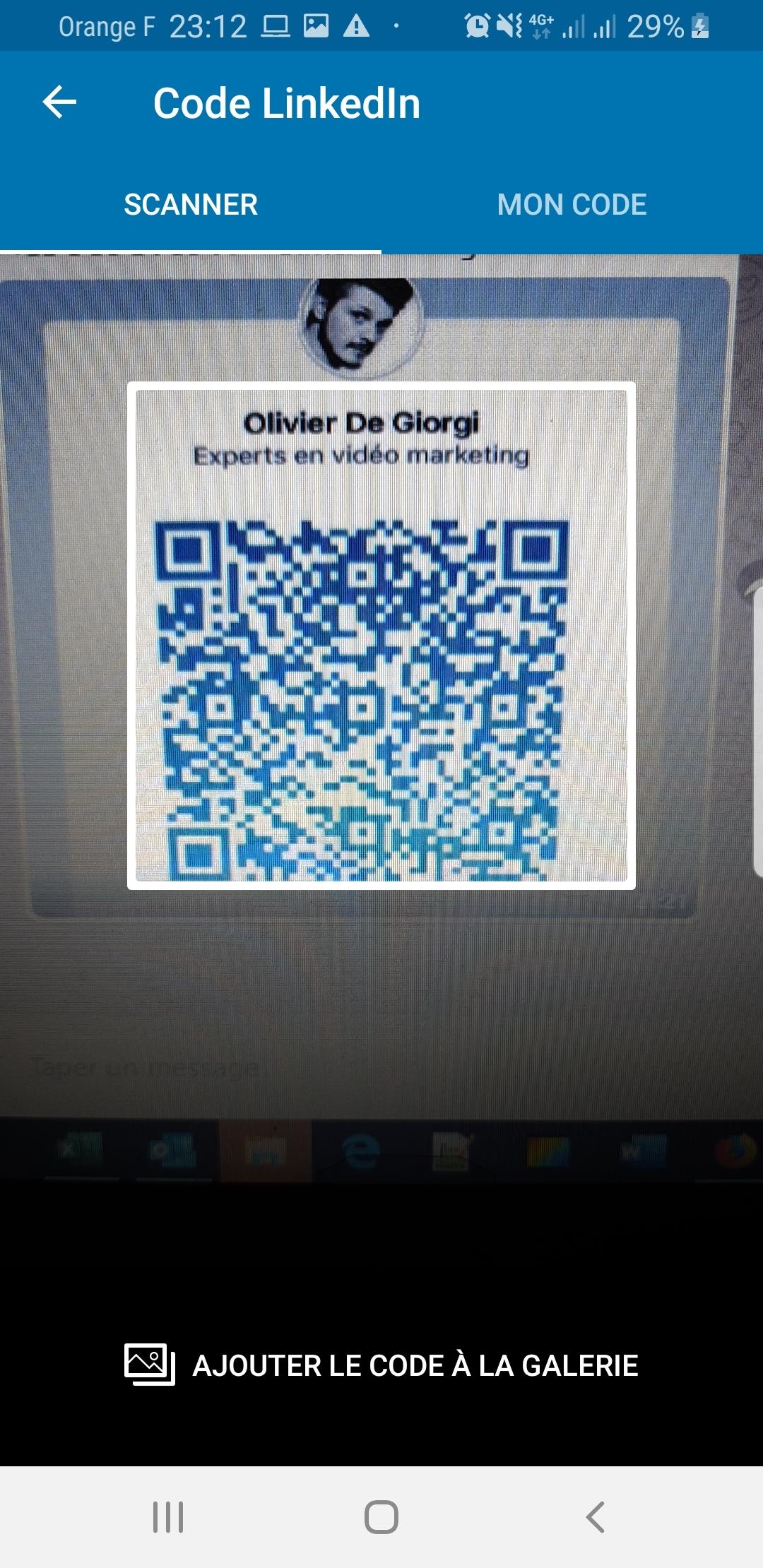 Utilisez l'App Linkedin et le QR code Linkedin pour scanner vos contacts lors d'un salon, d'une soirée networking... 5