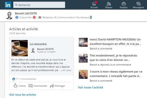 5 astuces simples de Social Selling sur Linkedin - Interview Benoit Lacoste 8