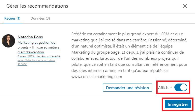 Comment modifier ou supprimer une recommandation Linkedin ? 8