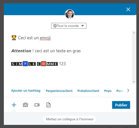 Utilisezles caractères spéciaux dans LinkedIn pour sortir du lot ! 6
