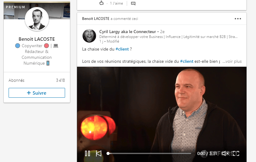 5 astuces simples de Social Selling sur Linkedin - Interview Benoit Lacoste 2