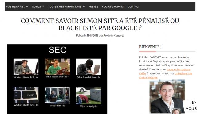 Comment savoir si mon site a été pénalisé ou blacklisté par Google? 6