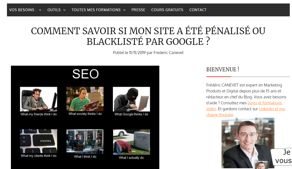 Comment savoir si mon site a été pénalisé ou blacklisté par Google? 3