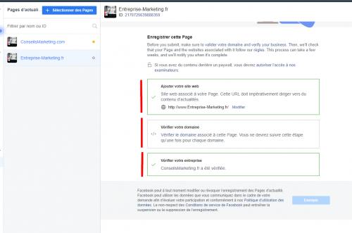 Comment enregistrer sa Page Facebook en Page d'Actualités Facebook ? 12