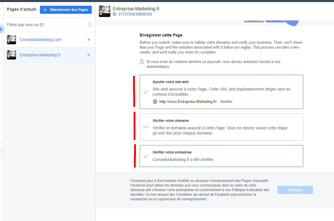 Comment enregistrer sa Page Facebook en Page d'Actualités Facebook ? 8