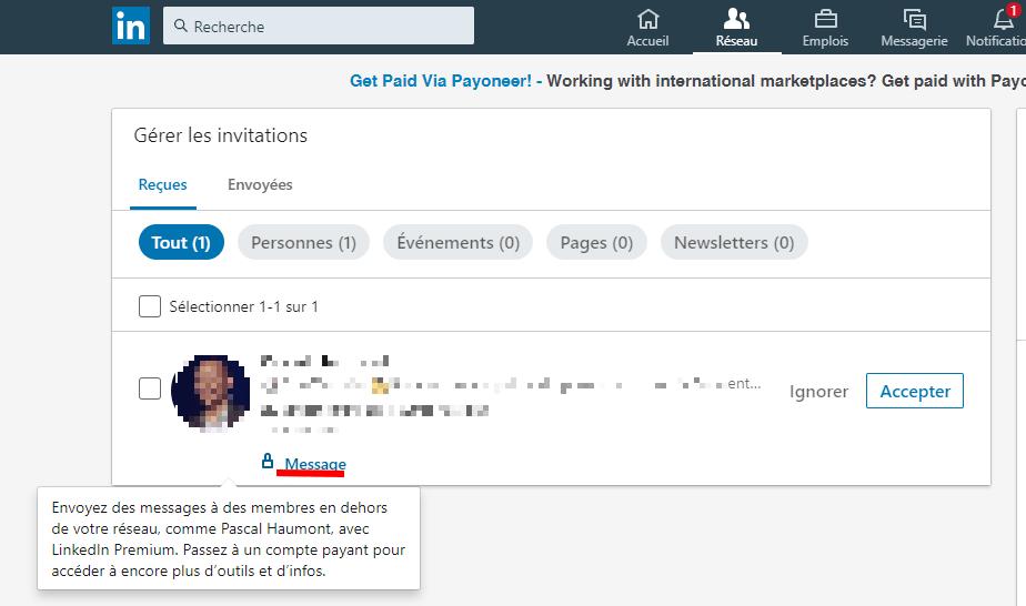 N'acceptez plus les demandes de connexion LinkedIn sans rien dire... Préparez un message d'accueil 5