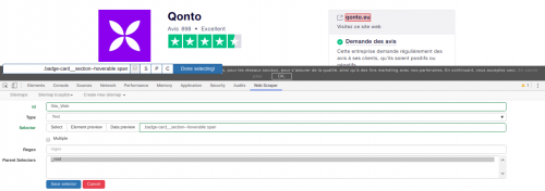 Comment faire du Web Scraping : cas pratique avec la récupération des avis clients sur Trustpilot avec webscraper.io 34