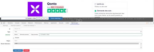 Comment faire du Web Scraping : cas pratique avec la récupération des avis clients sur Trustpilot avec webscraper.io 33