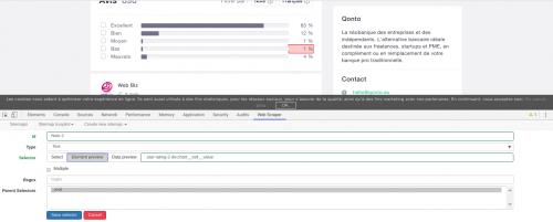 Comment faire du Web Scraping : cas pratique avec la récupération des avis clients sur Trustpilot avec webscraper.io 47