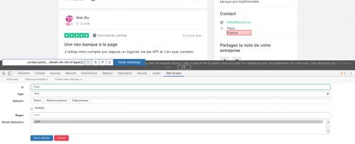 Comment faire du Web Scraping : cas pratique avec la récupération des avis clients sur Trustpilot avec webscraper.io 39