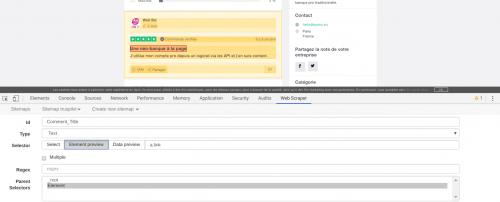 Comment faire du Web Scraping : cas pratique avec la récupération des avis clients sur Trustpilot avec webscraper.io 63