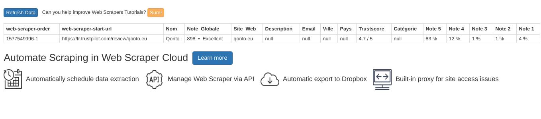 Comment faire du Web Scraping : cas pratique avec la récupération des avis clients sur Trustpilot avec webscraper.io 53