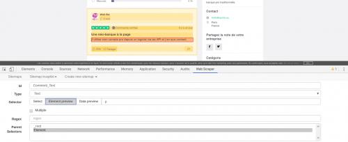Comment faire du Web Scraping : cas pratique avec la récupération des avis clients sur Trustpilot avec webscraper.io 64