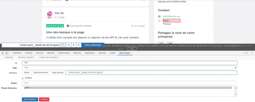 Comment faire du Web Scraping : cas pratique avec la récupération des avis clients sur Trustpilot avec webscraper.io 38
