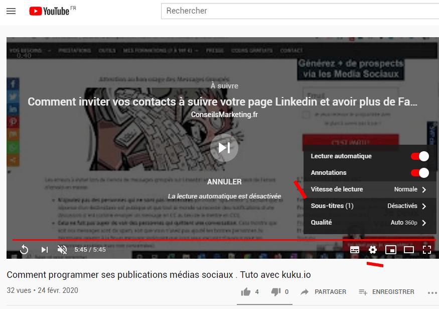 Comment modifier la vitesse de lecture sur Youtube... Jusqu'à 16 fois plus rapide ! 2